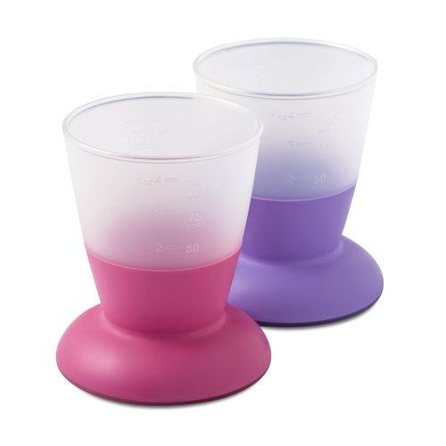 BABYBJÖRN Bicchiere per Bambini, Rosa/Viola, 2 pezzi