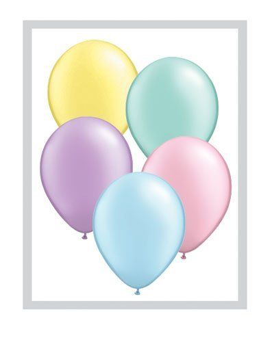 Pastel Assorti De Perles 27.9cm Qualatex Ballons En Latex x 25