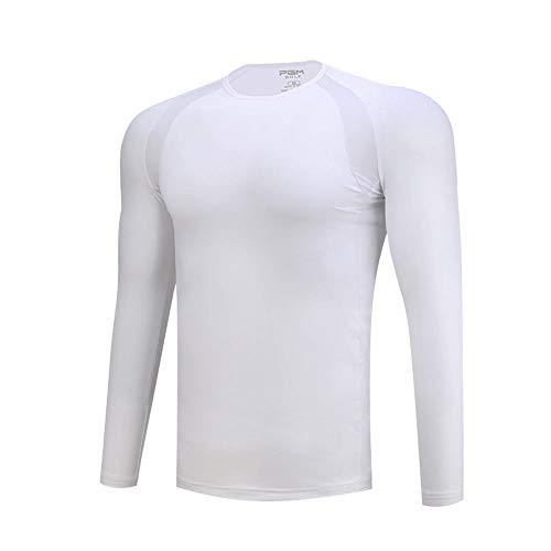 Mhwlai Herren Golf Herren Langarm T-Shirt, Schutzkleidung, atmungsaktives Ice Silk Shirt, Sommersportbekleidung, Herren Outdoor,A,L