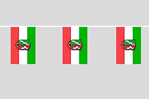 U24 Flaggenkette Nordrhein-Westfalen NRW 10,40 m Fahne Flagge Fahnenkette