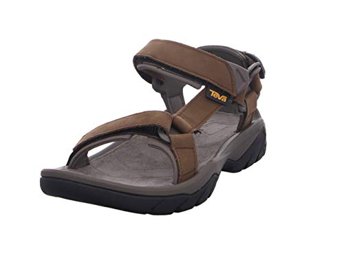 Teva Terra Fi 5 Universal Leather, Sandali a Punta Aperta Uomo, Marrone (Carafe Cara), 44.5 EU