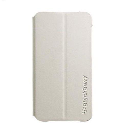 Blackberry Custodia in Pelle con Flip Richiudibile per Modello Z10, Bianco