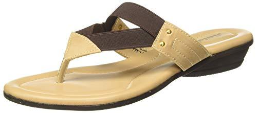 BATA Women Rose Elastic Brown Fashion Slippers-6 (5714046)