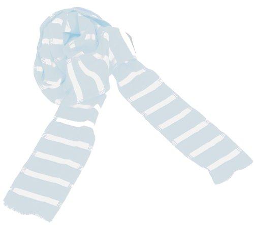 BRUBAKER Ringel de qualité écharpes Fine Cotton - Bleu - Taille unique