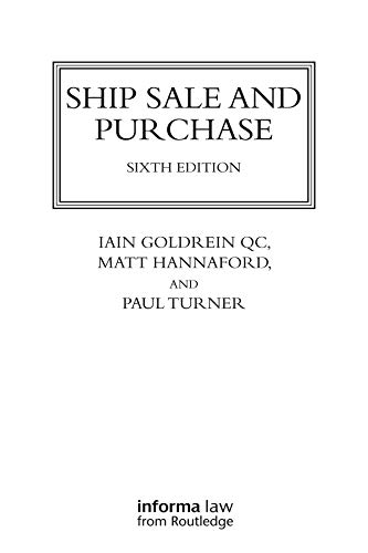 Ship Sale and Purchase (Lloyd's Shipping Law Library) (English Edition)