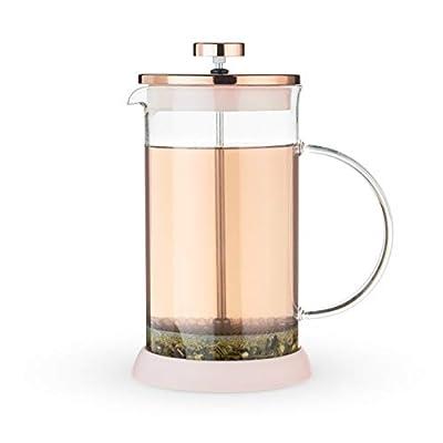 Pinky Up Riley Glass Tea Press Pot, Pink