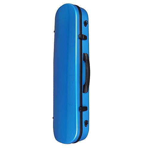 YLiansong Violin Case Bag Box Rucksack Flugzeug Auf Violine Box Geigenkasten mit Carbon-Faser Violine Umhängetasche mit Hygrometer 4/4 (Farbe : Blau, Größe : 4/4size)