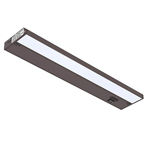 GetInLight 3 Color Levels Dimmable LED Under Cabinet Lighting with ETL Listed, Warm White (2700K), Soft White (3000K), Bright White (4000K), Bronze Finished, 18-inch, IN-0210-2-BZ