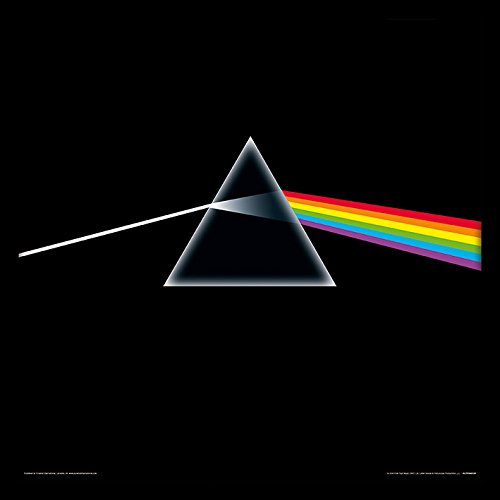 Pink Floyd Dark Side of The Moon - Album con cornice, in MDF, multicolore, 32 x 32 x 1,5 cm