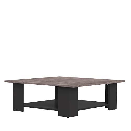 Marca Amazon -Movian Taro - Mesa de centro, 67 x 67 x 30.5cm (largo x ancho x alto), negro y efecto hormigón