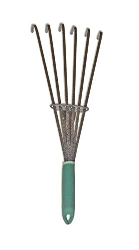"Yard Butler Terra Rake All Steel 18"" Floating Tine Leaf and Debris Clearing Hand Garden Spring Rake – WHR-6"