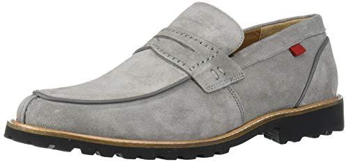 MARC JOSEPH NEW YORK Men's Leather Luxury EVA Lightweight Technology Penny Loafer, Light Grey Suede, 12 M US