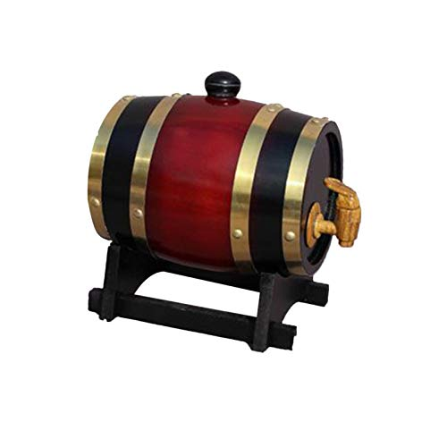 Cipliko 1.5L / 3L Barril Barril Barril Barril Vintage Oak Dispensador De Vino - Vintage Wood Oak Barril De Vino De Madera para Cerveza, Barriles De Roble para Vino Beer Spirits Storage
