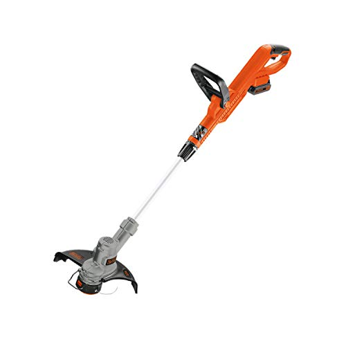 BLACK+DECKER LST300 20-Volt Max Lithium String Trimmer & Edger with 2-Amp Battery, White