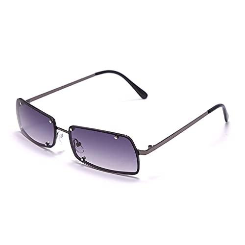 Gafas De Sol De Moda Unisex Gafas De Sol Vintage Rectangulares para Mujer, Gafas De Sol Retro Punk, Gafas De Mujer para Mujer, Gafas Steampunk para Co