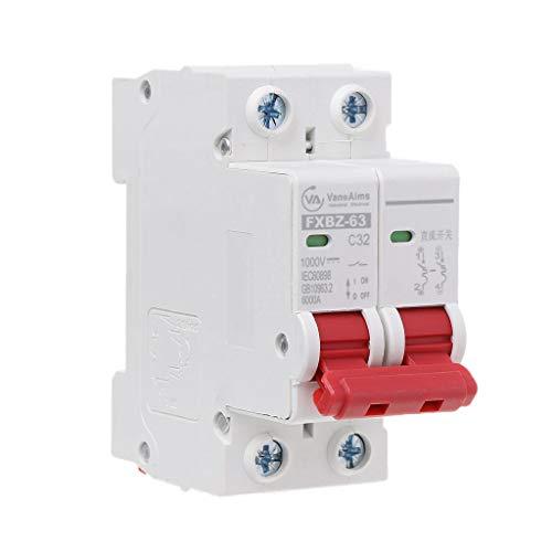 Gjyia 2P DC 1000V Mini disyuntor Solar 10A / 16A / 32A / 50A / 63A DC MCV fotovoltaico