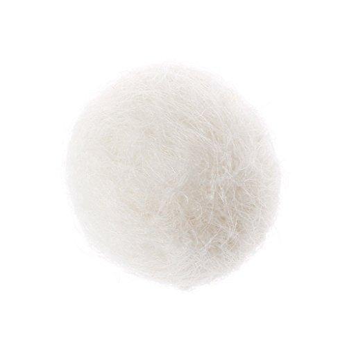 ZJL220 Décoratif Feutre De Laine Boule Guirlande Broche Broche Cheveux Cercle Poupée Sphère Dust Plug Blanc
