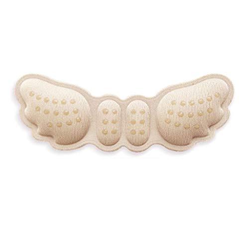 GYZCZX Plantillas de Mujer para Zapatos, Tacones Altos, Mariposa, Ajuste de tamaño, Forro de talón, empuñaduras, Protector, Pegatina para el Cuidado de los pies, cojín de inserción (Color : Beige)