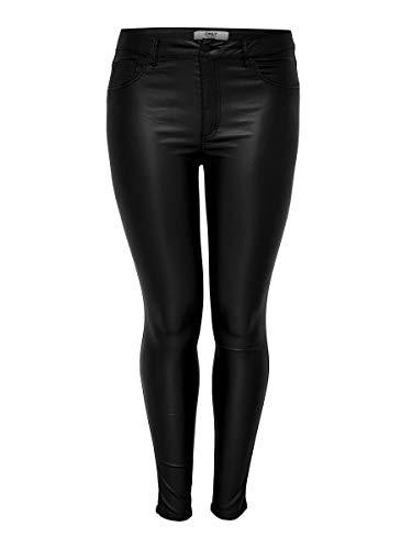 ONLY Carmakoma NOS Damen carPUNK REG SK Coated Pants Skinny Jeans, Schwarz (Black Black), 38W / 32L