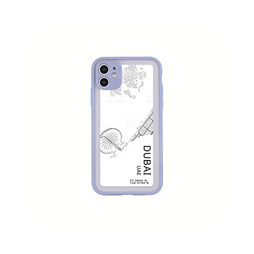 Carcasa para iPhone 12, diseño de City Country Phone Case New York Paris para iPhone XS Max XR X 7 8 11 Pro Max 12 Mini Dubai-for iPhone 12