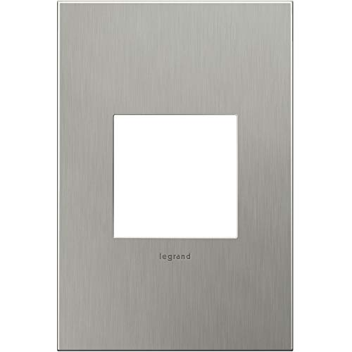 Legrand adorne Brushed Stainless Steel 1-Gang Wall Plate AWC1G2BS4