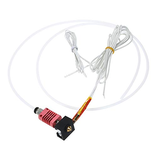 Aibecy Assembled MK10 Extruder Hotend Kit Upgrade Parts with Aluminum Heating Block 0.4mm Nozzle 100K Ohm Thermistor PTFE Tube 24V 50W Compatible with Tronxy 3D X5SA/X5SAPRO/XY-2PRO 3D Printer
