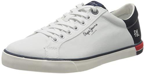 Pepe Jeans Marton Low, Zapatillas Hombre, Color Blanco 800, 46 EU