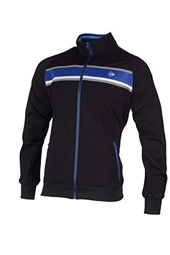 DUNLOP Club Line-Warm Up Jacket Homme, Anthracite/Cobalt, S