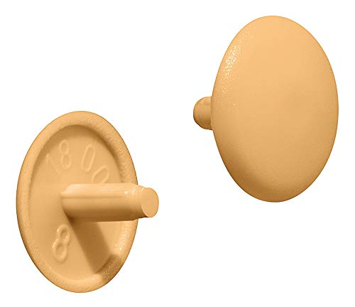 Gedotec RAL 9005 Lot de 50 bouchons de fixation ronds en plastique pour perceuse /à t/ête de per/çage PZ2 /Ø 12 x 2,5 mm