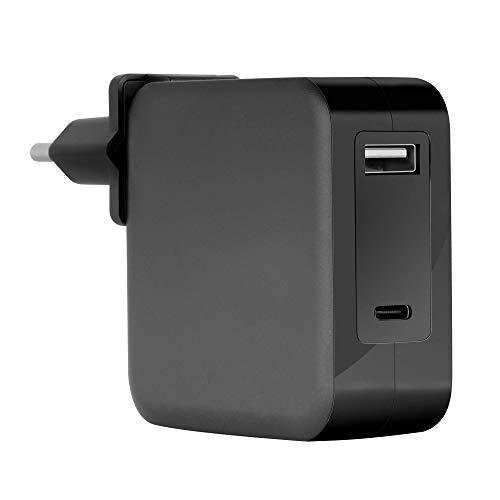 Mars Gaming MNA2 Negro, Cargador Universal 90W EU/US, USB-C PD&QC 3.0, 6X Adapt