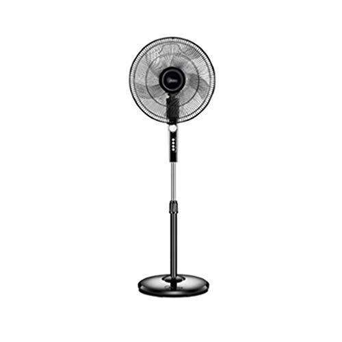 L-Fan Ventiladores de pie, Negro circulación de Aire Vertical Ventiladores Oficina Sala de 16 Pulgadas Ventiladores oscilación Ampliable Ventiladores de refrigeración 138 * 45.2CM
