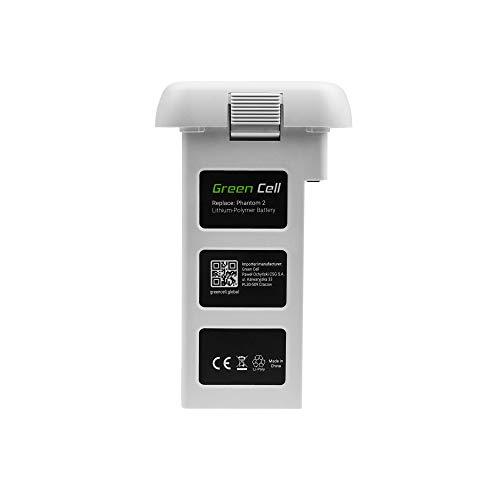 Green Cell® Akku Batterie für DJI Phantom 2, Phantom 2 Vision+ Plus | Li-Polymer High Performance 5200mAh 57.5Wh 11.1V Weiß | Volle Kompatibilität | Flugzeit bis zu 29 Minuten | Drohne markenakku