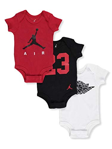 Jordan Baby Boys' 3-Pack Bodysuits - black, 0-6 months