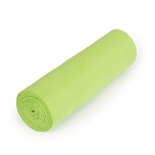 nu:ju® Serviette de sport/fitness, serviette de voyage en microfibres argent ionisé, 1 grand lot (100 x 180 cm), Greenery. Légèreté - absorbant - résistant - lavable jusqu'à 95