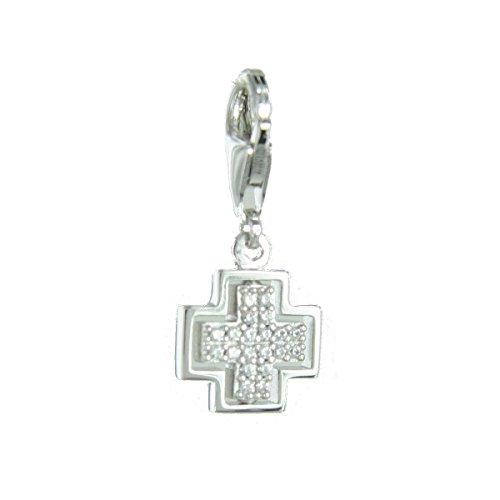 Esprit Anhänger Charms Silber Kreuz ESCH91428A000