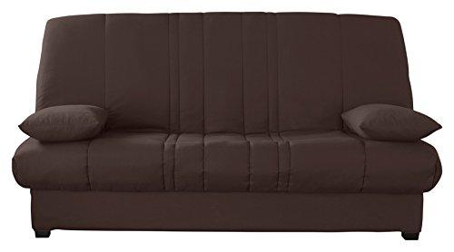 Relaxima Edwin Banquette-Lit Matelas Mousse Pillotech by Dunlopillo Chocolat 194 x 98 x 102 cm
