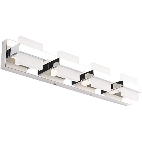 SOLFART Modern 4 Lights LED Vanity Lights for Bathroom Wall Light Fixture Decor Accessories