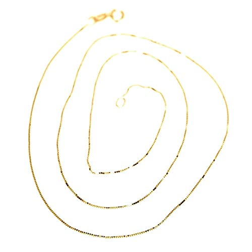 18K yellow gold chain, 750, mini Venetian link, thickness 0.5 mm. MADE IN ITALY