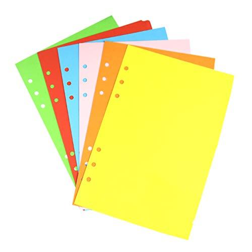 TOYANDONA 12 Piezas de Papel de Relleno de Planificador A5 para Cuaderno de 6 Agujeros Hojas Sueltas 2021 Planificador de Citas Diarias Papel Coloreado Recargable Insertos Perforados