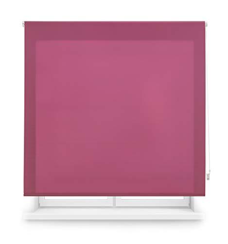 Blindecor Ara Estor enrollable translúcido liso, Fucsia, 120 x 175 cm, Manual