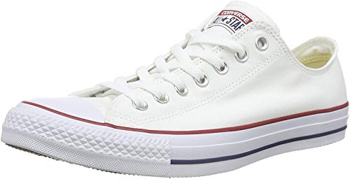 Converse Chuck Taylor All Star Shoes (M7652) Low Top in Optical White, Size: 7 D(M) US Mens / 9 B(M) US Womens, Color: Optical White