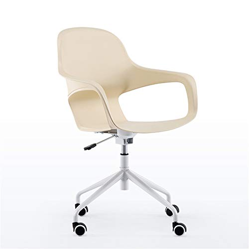Bureaustoel, moderne bureaustoel Simple Plastic Lifting Roterende computerstoel Study Home Chair Champagne