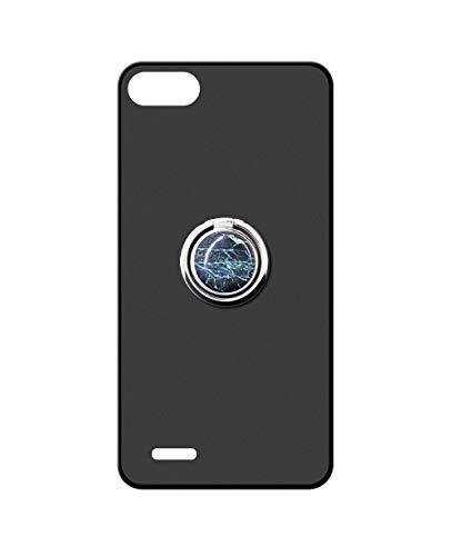 Sunrive Kompatibel mit Vodafone Smart E8 Hülle Silikon, 360°drehbarer Ständer Ring Fingerhalter Fingerhalterung Handyhülle matt Schutzhülle Etui Hülle (Blauer Marmor) MEHRWEG