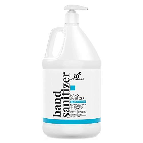 Artnaturals Hand Sanitizer Gel Alcohol Based (1 Gallon x 128...
