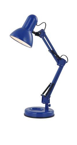 Schreib Tisch Leuchte blau Wohn Arbeits Zimmer Beleuchtung Lese Lampe verstellbar Globo 24883