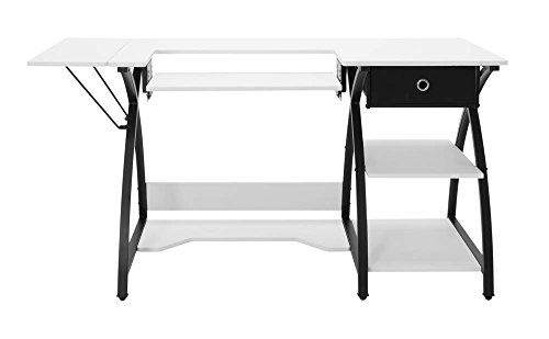 Offex Comet Hobby and Sewing Desk Black/White
