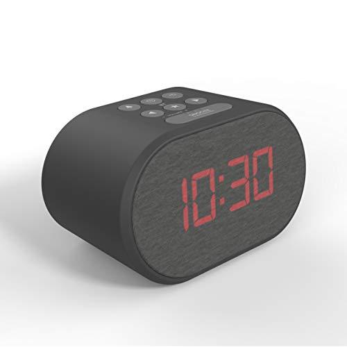 Radiowecker mit USB-Ladeanschluss, Dimmbares LED-Display und Dual-Alarm   Wecker Digital   Radiowecker mit Ladefunktion   Wecker mit Ladestation   Radiowecker Digital   LED Wecker   Digitaler Wecker