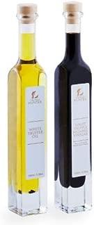TruffleHunter White Truffle Oil & Balsamic Vinegar Gift Set (2 x 3.38 Oz) Gourmet Food Condiments Seasoning Vinaigrette Salad Dressing Marinade Extra Virgin Olive - Vegan, Vegetarian & Gluten Free