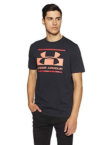 Under Armour Blocked Sportstyle Logo Camiseta de Manga Corta, Hombre, Negro (002), M