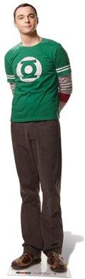 US-Way e.K. Pappaufsteller Dr. Sheldon Cooper - Big Bang Theory Aufsteller Standup Figur Kinoaufsteller Pappfigur Cardboard Lebensgroß Life-Size Standup